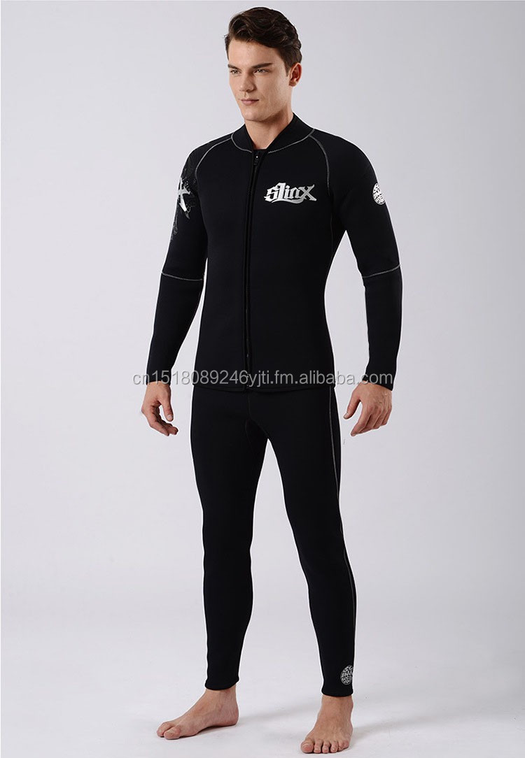 Warm 5mm wetsuits inside towel lining two piece dive suit  (10).jpg