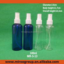 2016 Factory Original 100ml PET plastic spray pump bottles for beauty package MR-S-13