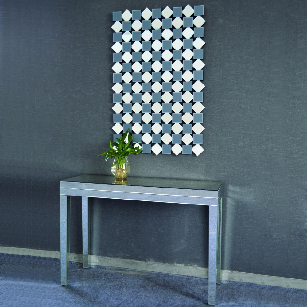 Home mirrored furniture modern console table with wall mirror