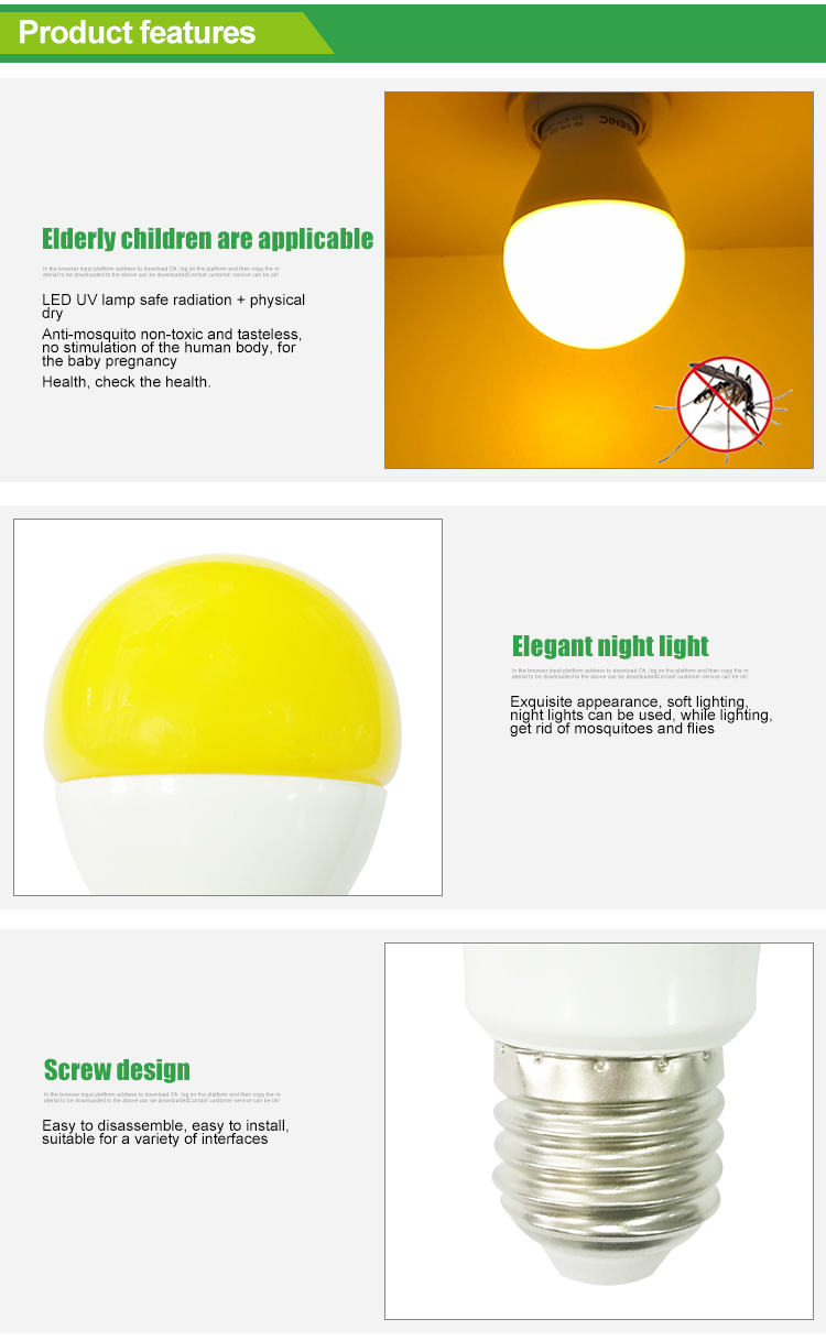 E27 LED bulb 9W mosquito repellent lamp