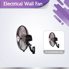 High velocity durable office use SS-1816WARG-5AS wall mounted oscillating fan