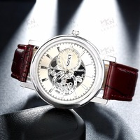 Leather fashion watch, Popular teenage fashion watches for man