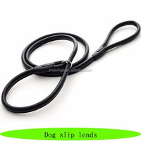 Wholesale high quality PU leather dog leads, new design dog lead