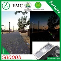 5 colors IP68 beautiful solar road glass brick light