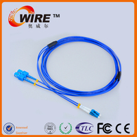 OEM Waterproof 9/125 SM 3M SC LC Duplex Patch Cord For Home Network