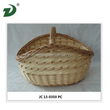Bamboo willow basket oval plastic laundry basket in 2015