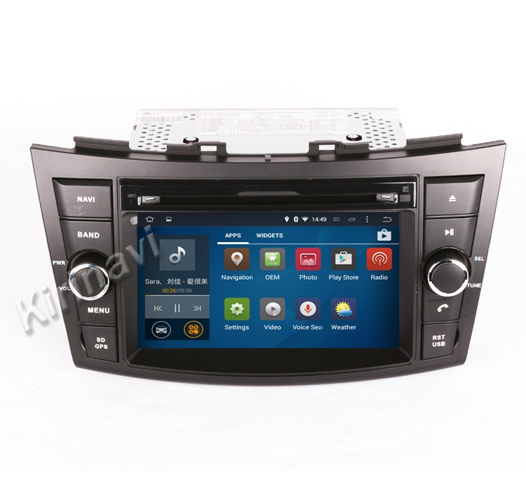 Kirinavi WC-SS7669 Android 5.1 touch screen car radio gps for suzuki swift 2012+ mp3/mp4 player wifi 3g bt car stereo