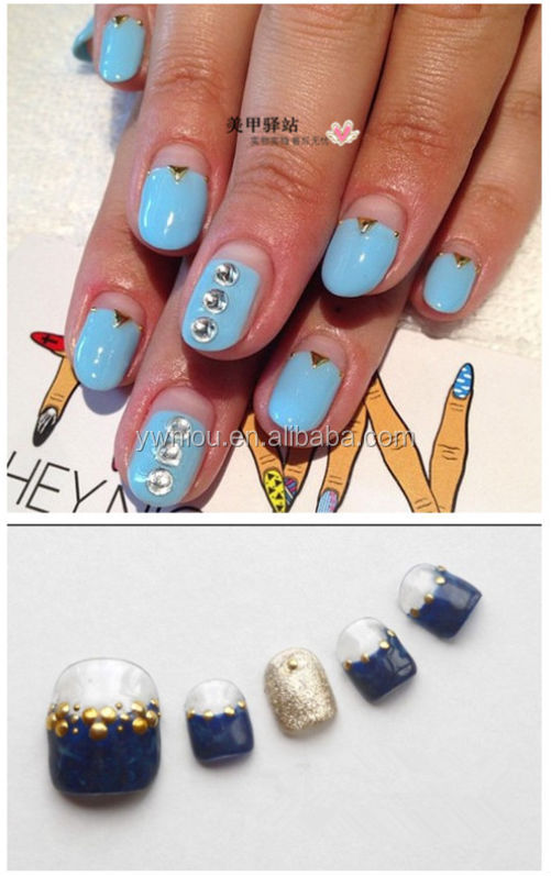 fashionable 3D rivets Nail Art Metal gold and silver Studs