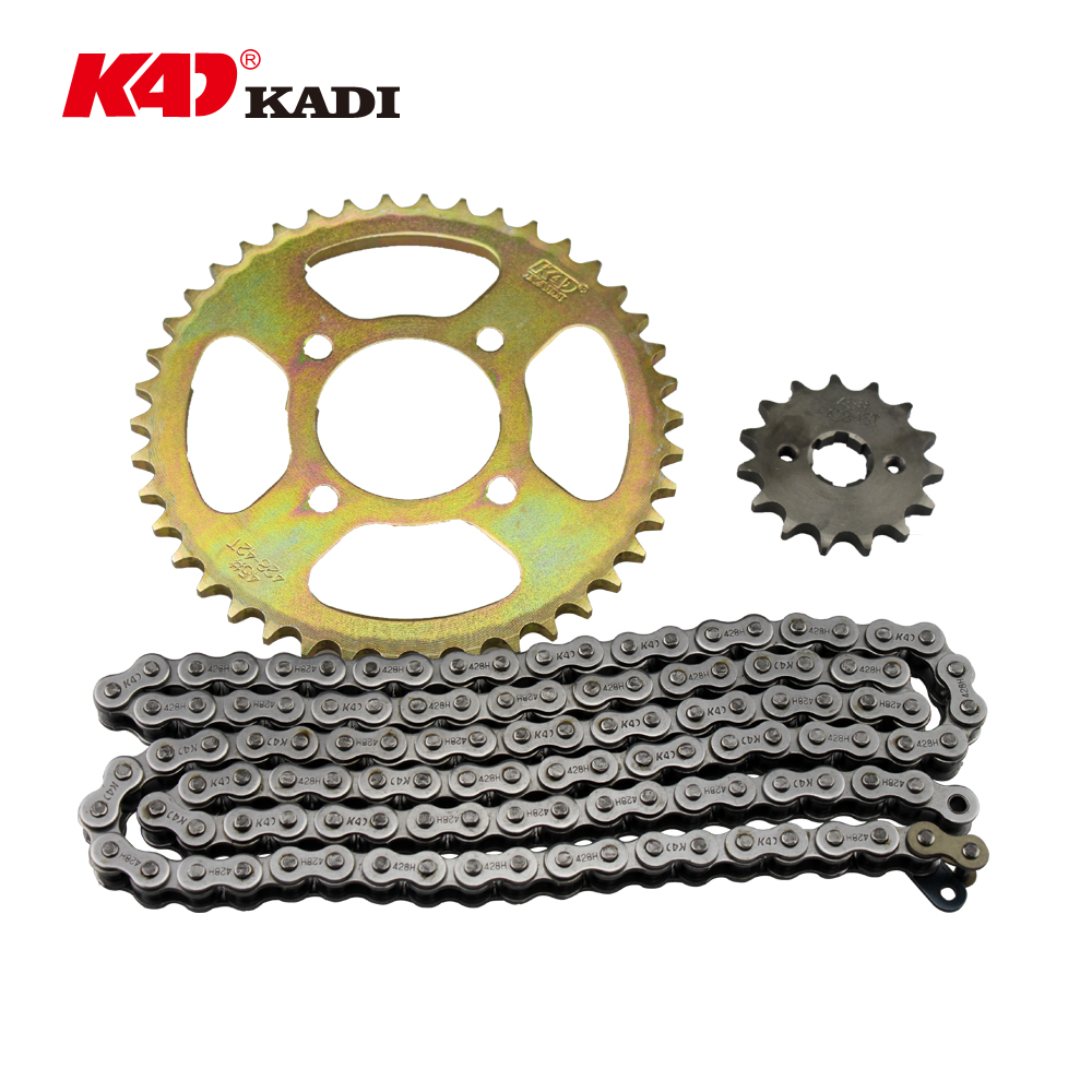 125cc motorcycle chain and sprocket kits for motorcycle parts GN125 Chain Set