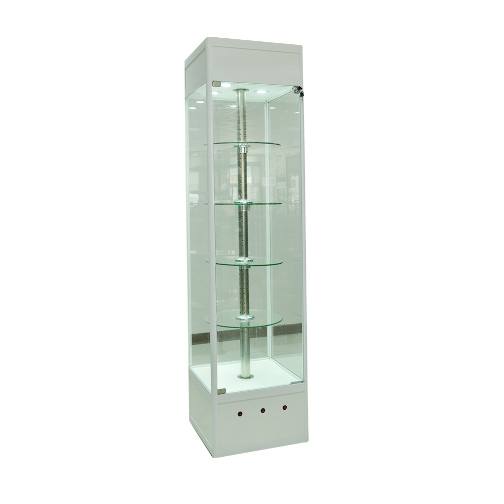 Fashionable mobine and watch glass showcase jewelry display cabinet