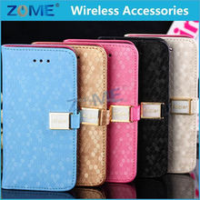 Sublimation Case For Phone Wallet Case For iphone 5c Diamond Stone Newest Product Leather Phone case/Cover