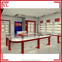 Optical shop counter materials used interior design