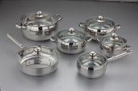 12 pcs High Quality Stainless Steel Kitchen Cookware Set