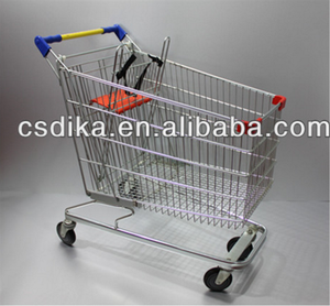 hand push shopping cart with child seat