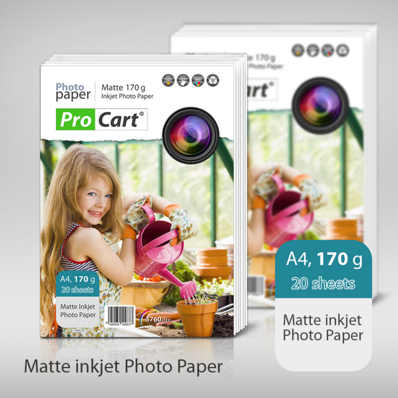A4 matte 170g inkjet photo paper
