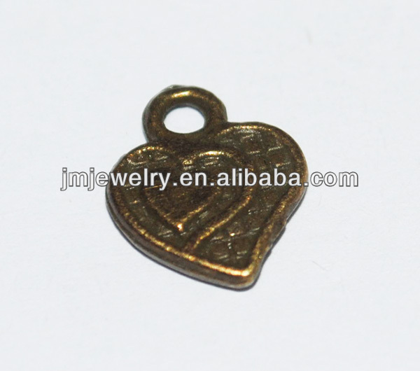 Metal small heart shoe charms for women accessories zinc alloy nickel free pendant