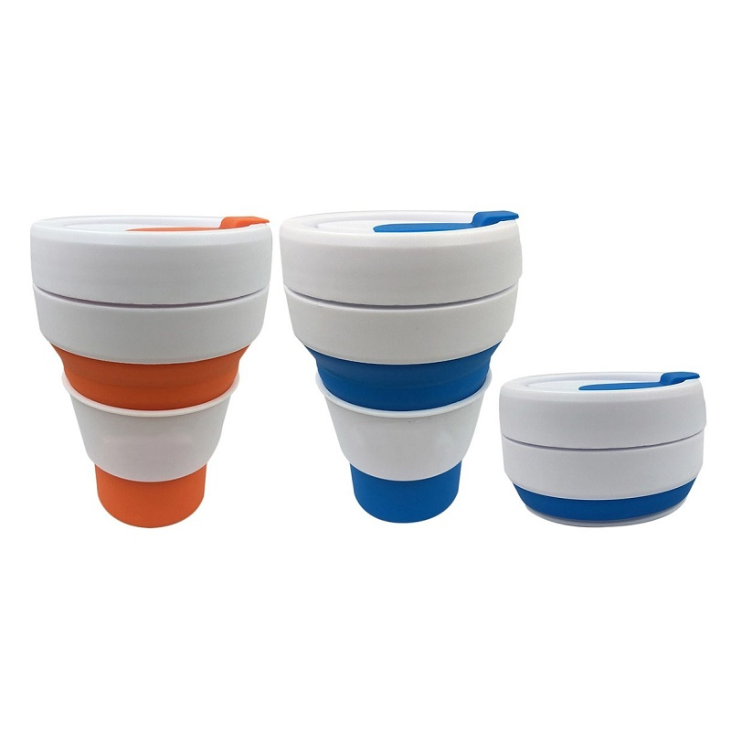 Eco-Friendly Portable Bpa Free 350ml Foldable Customized Wholesale Silicone Collapsible Reusable Coffee <strong>Cup</strong>
