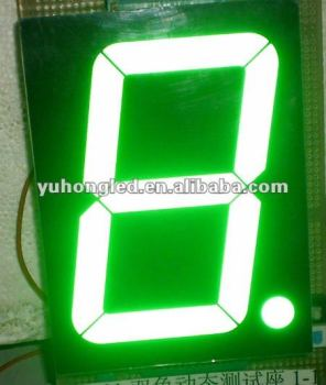"4"" Indoor/Semi-outdoor Green LED Seven Segment Digit Display with High Brightness"