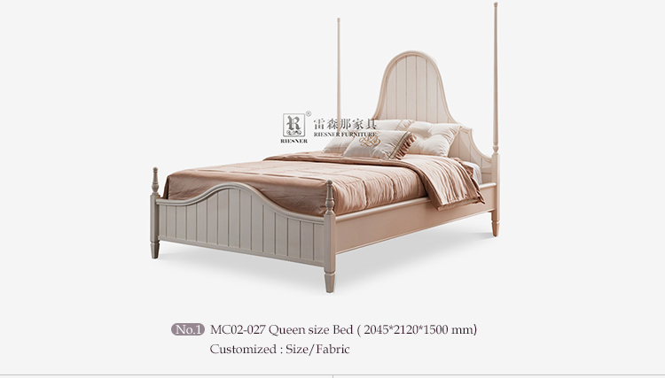 Modern White Painting Bed Room Furniture set Wood Double Bed Designs Bedroom Set