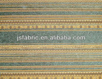 Home Textile Polyestery Exquisite Wholesale Chenille Jacqaurd Stripes Fabric For Sofa