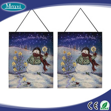 Decorating tapestry picture fiber optic art lighting with 6W mini illuminator, 120 stars, remote control