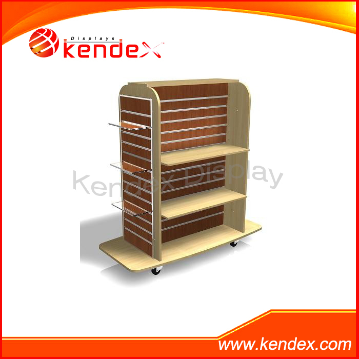 MDF plywood board flooring display stand rack clothes bag shoe shop fixture