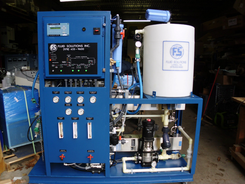 MAR COR Fluid Products reverse osmosis water system