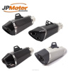 JPMotor 304 Steel Titanium Carbon Fiber Double Tail Motorcycle Exhaust Muffler