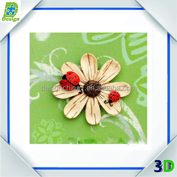 custom design flower promotion gift wood fridge magnet/souvenir refrigerator sticker for gift/wood fridge magnet stick