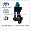 SPR sieres replacement rubber lined vertical slurry pump
