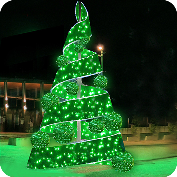 Hot sale and Unique outdoor white metal lighted christmas trees