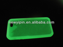 glow in the dark silicone cell phone case/ glowing silicone mobile case