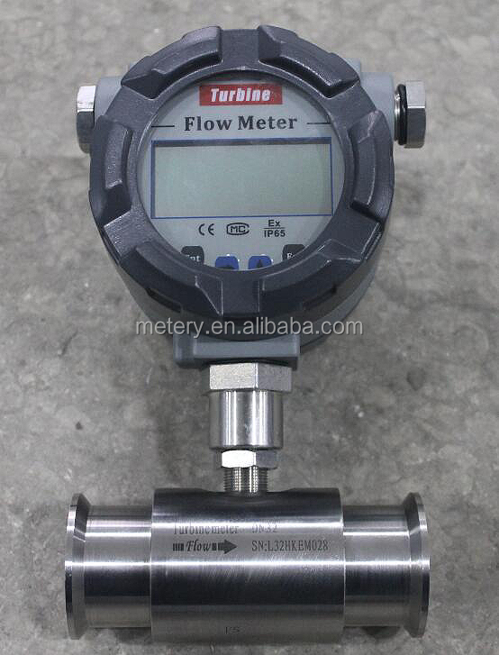 METERY TECH. MT100TB Sanitary Food grade water milk flowmeter flow meter turbine flowmeter