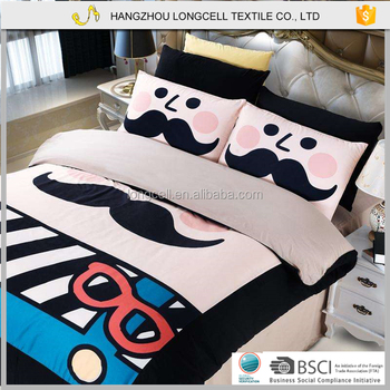 2015 Happy animal cartoons baby bedding set cashmere china wholesale bed linen bed cover designs