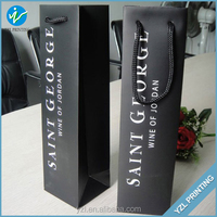 Custom Promotional Cheap Paper Wine Bottle Bag With PP Handles