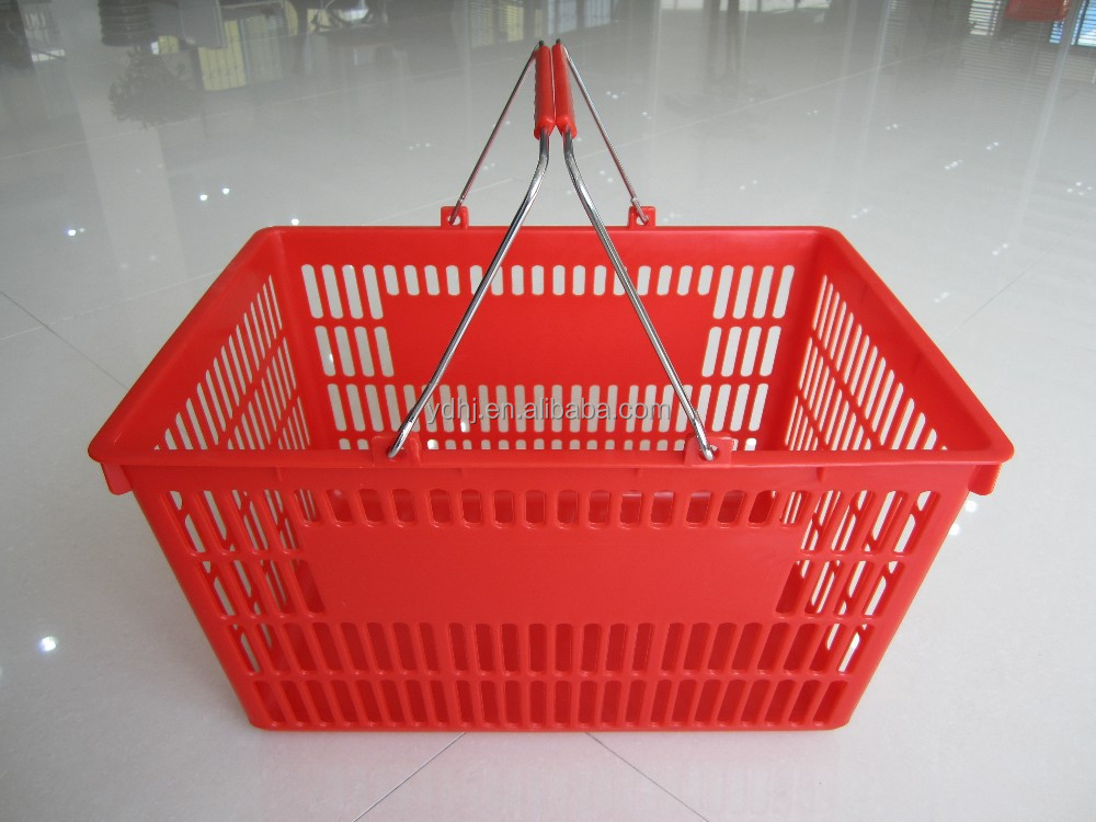 25 liter chrome handle supermarket basket from manufacture