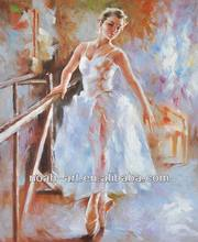 Sex Ballet Girl Dancing Oil Painting