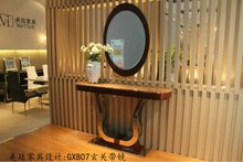 marble top hallway console table with mirror