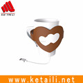 2017 Hot sale heart shap silicone coffee cup mat made in China