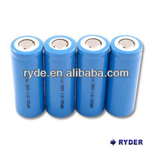 Lithium Ion 18500 3.6V 1300mAh cylindrical rechargeable battery