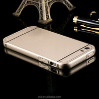 High Quality Plastic Slim Removable Metal Bumper Monochrome Hard Back Case For iPhone 5S 5 5g