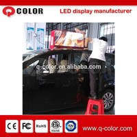 Hot sale outdoor 3g/wifi wireless bus/car/truck roof led taxi top advertising sign from Shenzhen Q-color
