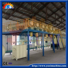 Automatically continuous Used black engine/car/truck oil recycling plant