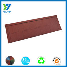 Wine red stone coated steel roofing tile/shingle metal roofing tile