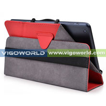 "VIGOWORLD Patented Camera Position Available Stand PU Leather Case For 8"" Tablet"