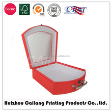 professional custom recycled cosmetic custom logo suitcase style paper Jewelry Boxes Material foil stamping jewellry gift box