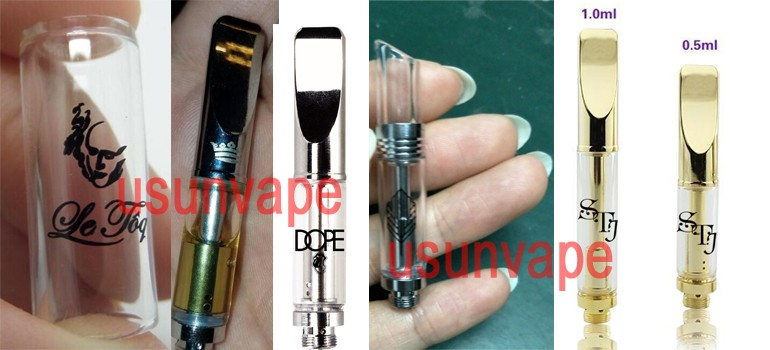 Wholesale top quality 92A3 Metal flat tip no oil leaking cbd oil cartridge 510 glass