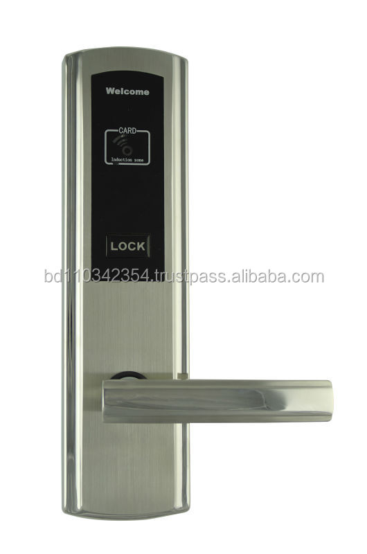 RHM325 RFID smart card digital Hotel door handle locks/electronic panel door lock bluetooth 4.0 hotel smart lock