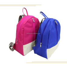 Customized school bag backpack with zipper for children