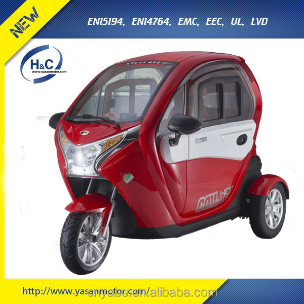 2017 NEW 3 wheel electric scooter fully enclosed mobility scooter electric tricycle